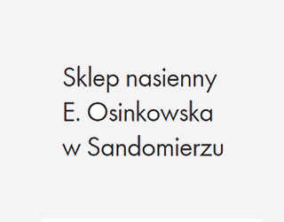 SKLEP NASIENNY E. OSINKOWSKA SP.J.